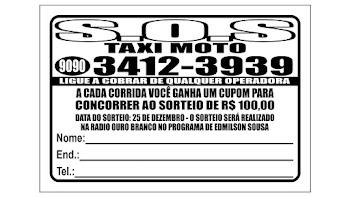 Promoção S.O.S TAXI MOTO