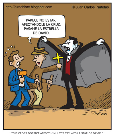 vampiro vs una cruz