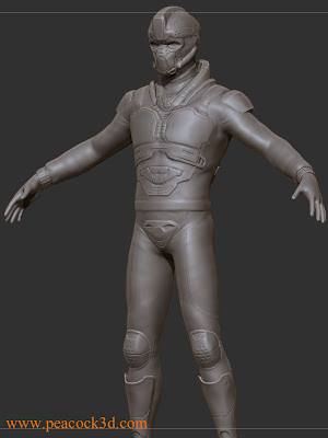 ZBrush Mech Soldier WIP Maya 3D Character