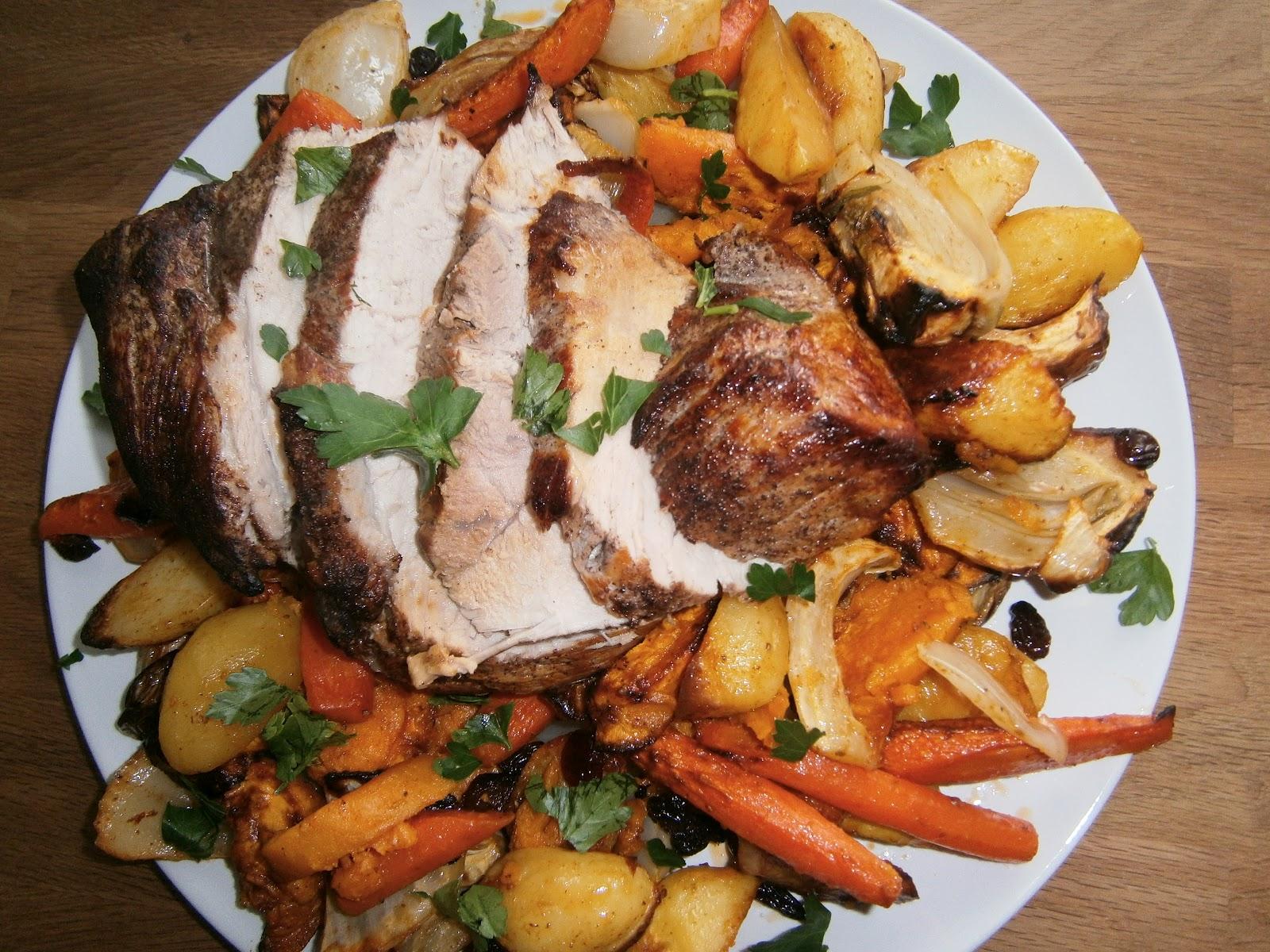 Запеченная свинина с овощами в духовке пошаговое фото