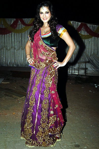 Sunny leone in ghagra choli full clothes waring pics hot looks hd pics of sunny leone