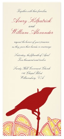 Bird Wedding Custom Announcements