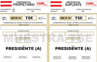 credenciales Tribunal Electoral Honduras