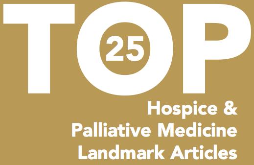 Top 25 Studies in Hospice and Palliative Care (#HPMtop25)