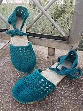 Alpargatas a crochet