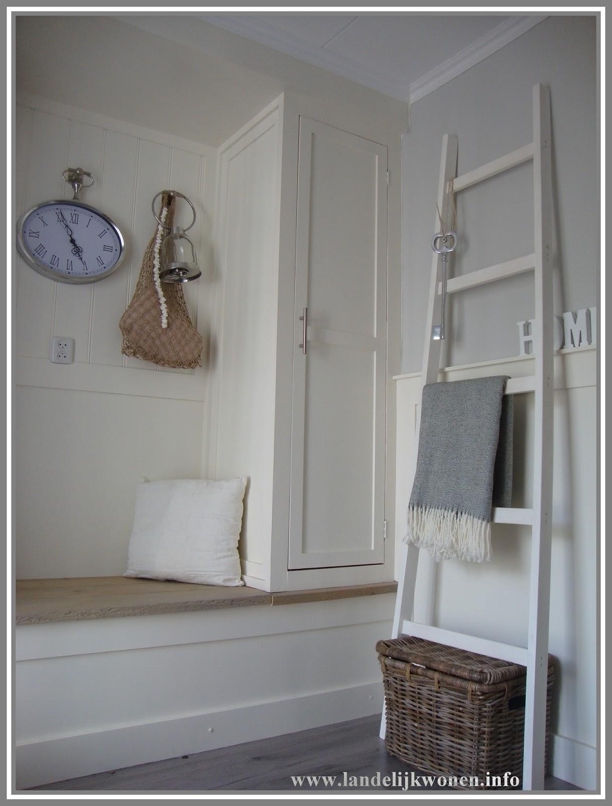 Landelijk wonen interieur idee decoratieve ladder zelf maken - Home decoratie interieur trap ...