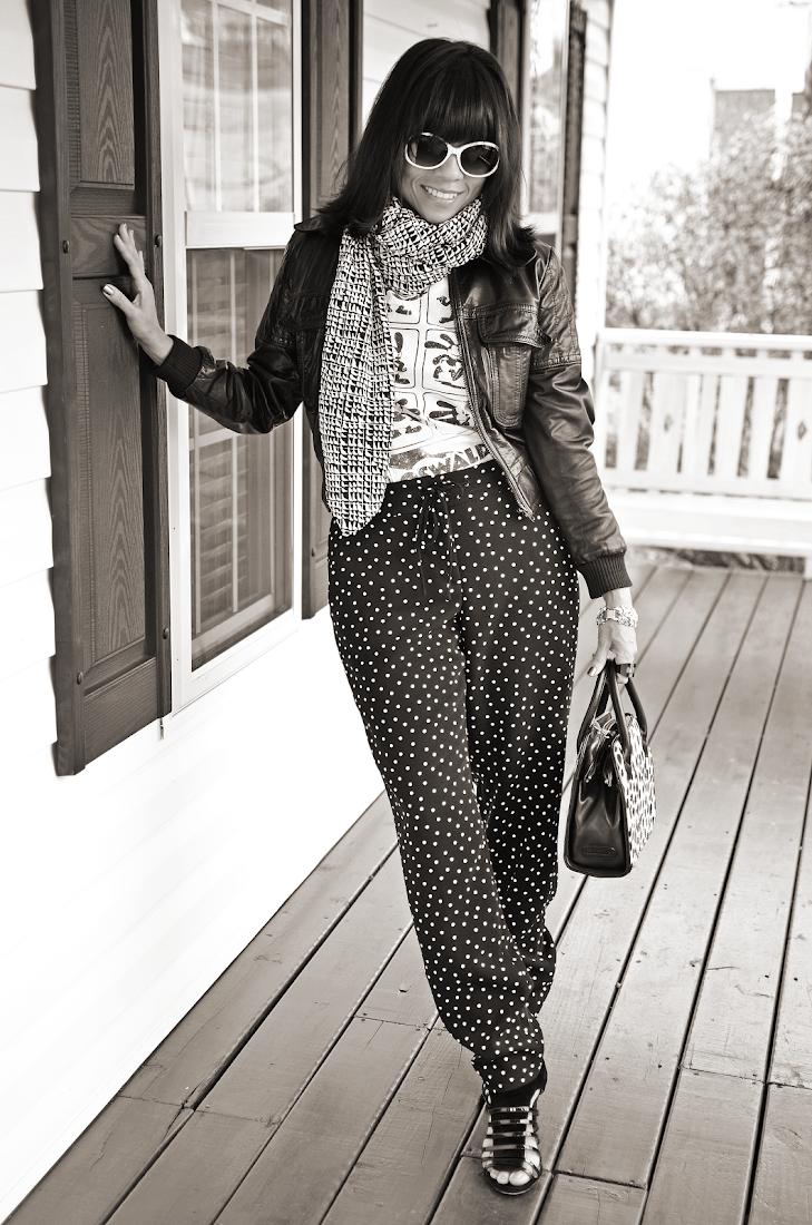 Black and White Polka Dots Pants