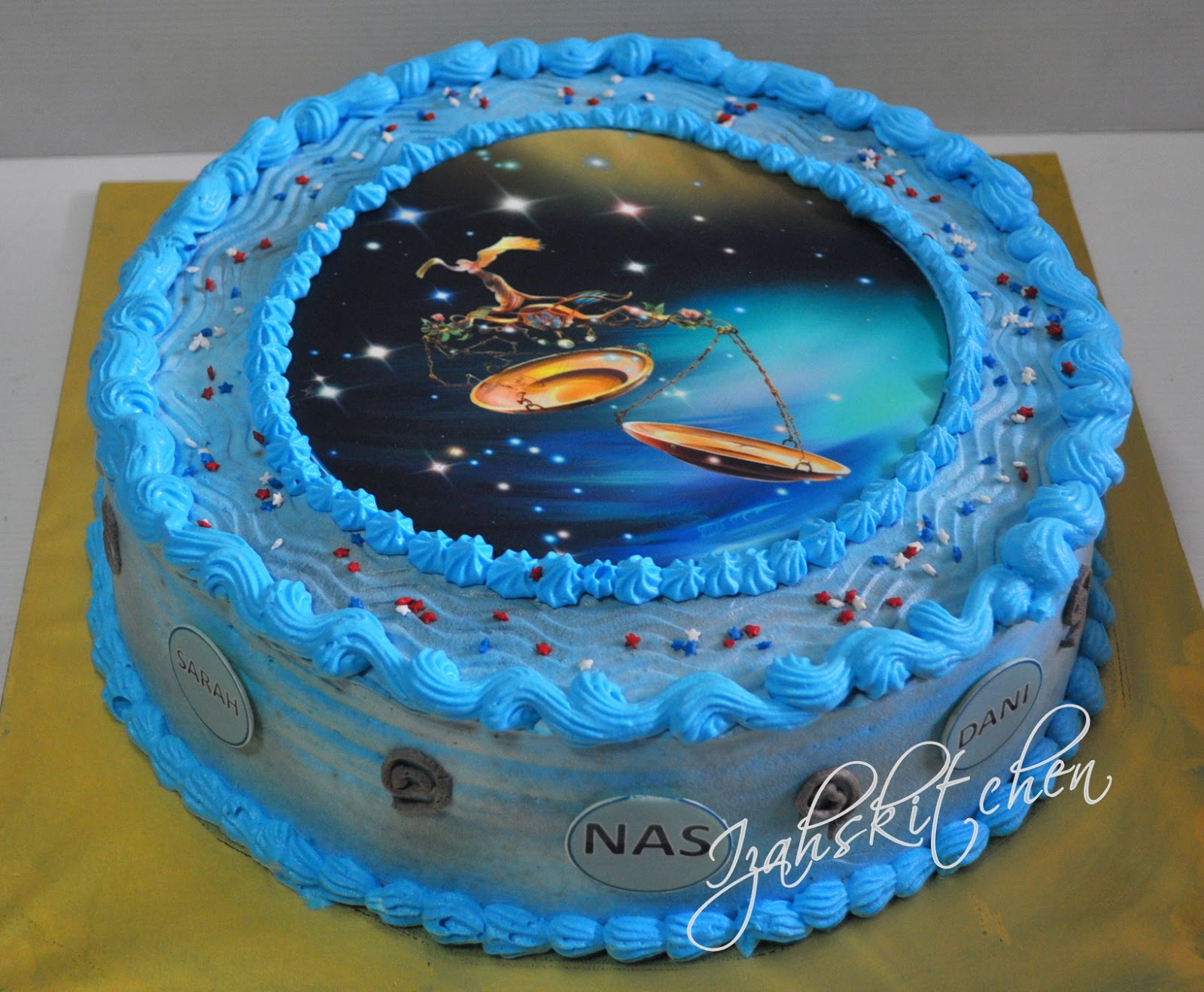Izahs Kitchen Zodiac Libra Theme Cake
