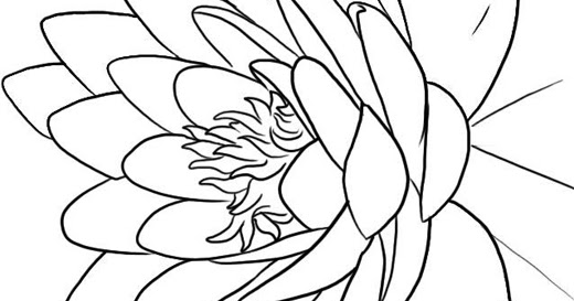 Lotus+Flower+Coloring+Page-712149 Flower Coloring Pages