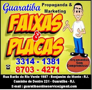 PLACAS E FAIXAS
