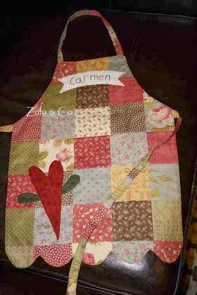 aventais de cozinha em patchwork passo a passo