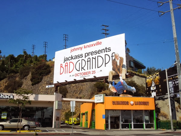 Bad Grandpa special installation movie billboard