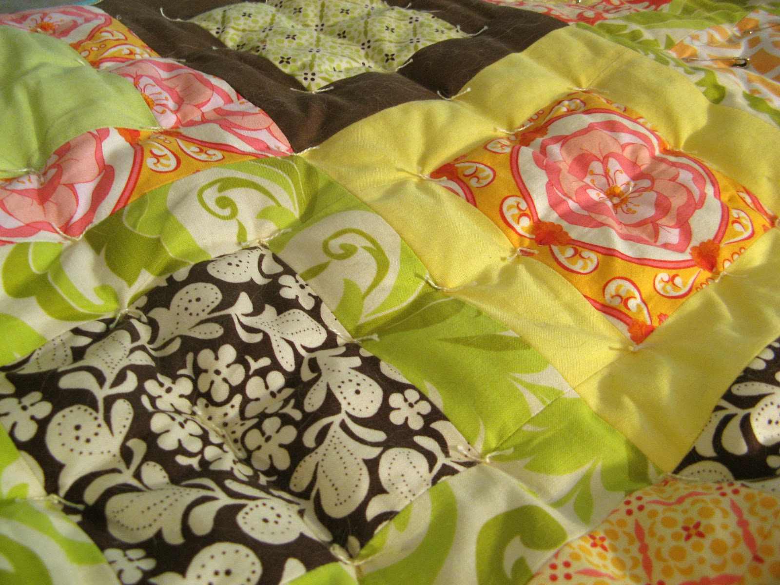 Sew Fabulous Quilt Shop: All Tied Up : hand tying a quilt - Adamdwight.com
