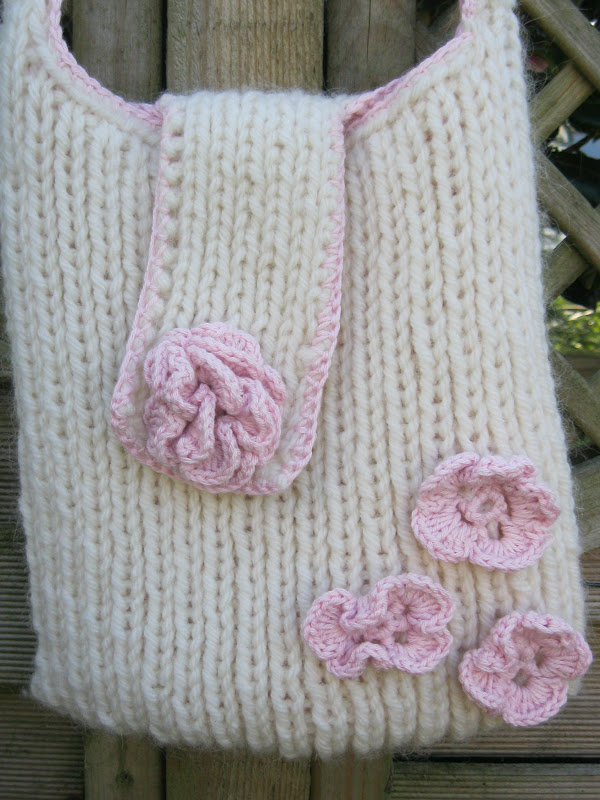 Knitting Pattern Messenger Bag : Indigo Blue: Hand Knitted Messenger Bag -OPAM 2012