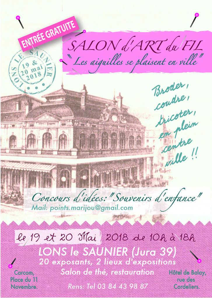 Salon d'art du fil à Lons le Saunier les 19 et 20 mai