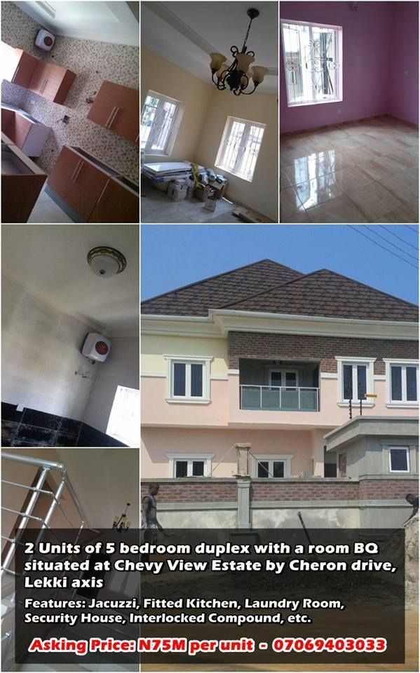 Real Estating In Nigeria Newly Built 2 Units Of 5 Bedroom