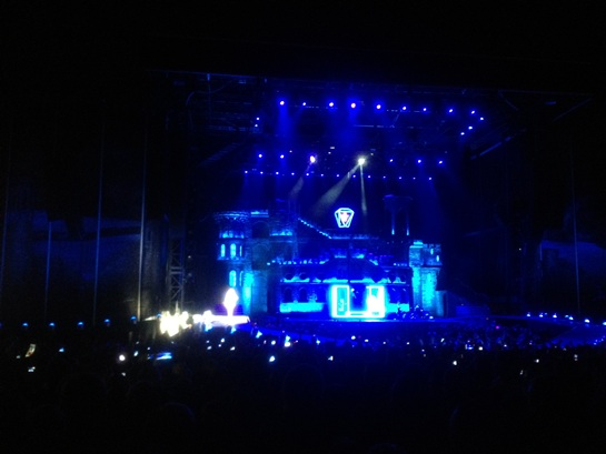 Lady gaga on stage in Riga, Latvia