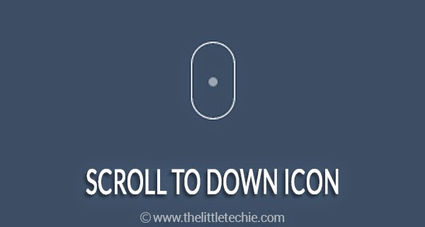 Scroll to down icon