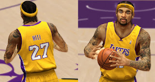 NBA 2K13 Jordan Hill Cyber Face Patch Download