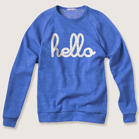 hello blue sweater