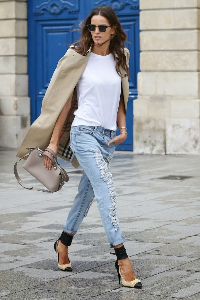 izabel-goulart-treet-style-ripped-jeans-trench