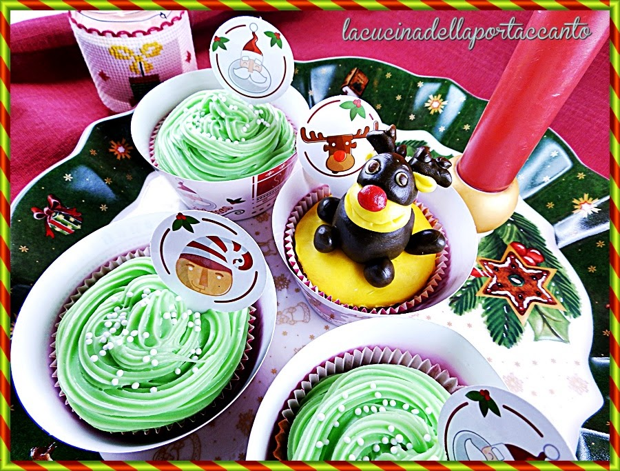 cupcakes di natale all'arancia e cardamomo con gelatina di mosto primitivo / christmas cupcakes with orange and cardamom with jelly juice primitive