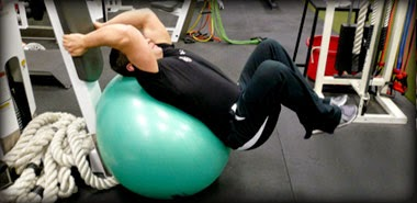 Swiss Ball Reverse Crunches