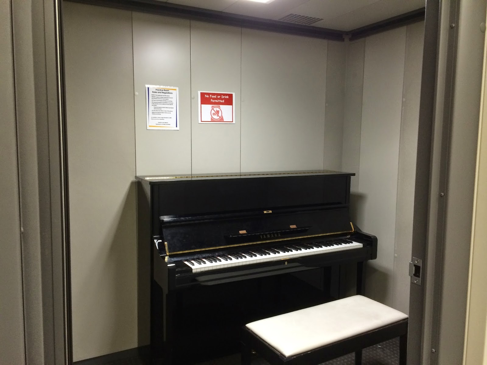 A Standard Practice Room In Keating Hall's Basement With A Piano I Have My  Weekly Voice Lessons Here And I Also Love Toe Here On My Spare Time To  Have