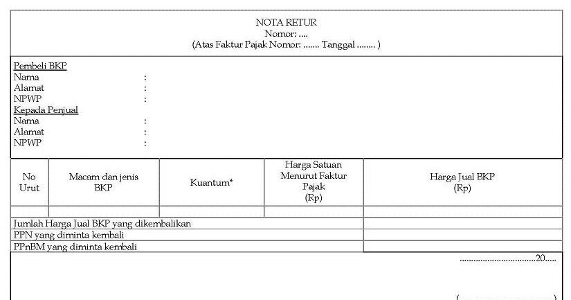 Nota Retur Dan Nota Pembatalan Makalah Terbaru