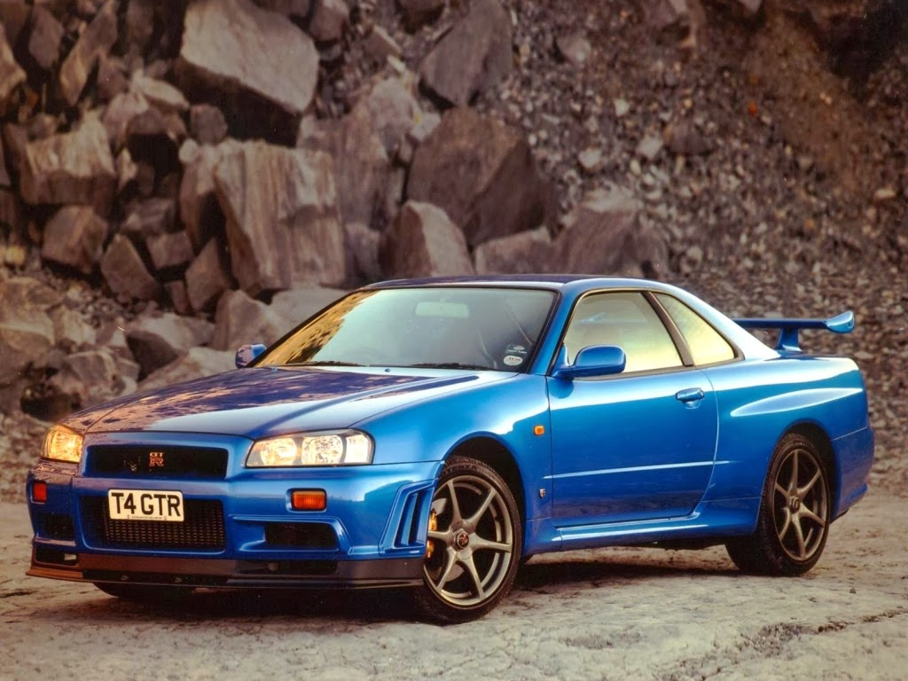 Nissan Skyline GTR White Red Blue
