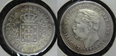 portuguese india meia rupia 1881