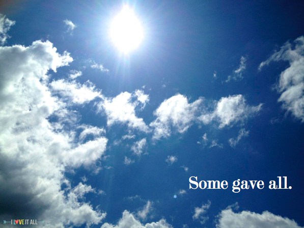 #memorialday #quote #sky #cloouds #sunflare #sun