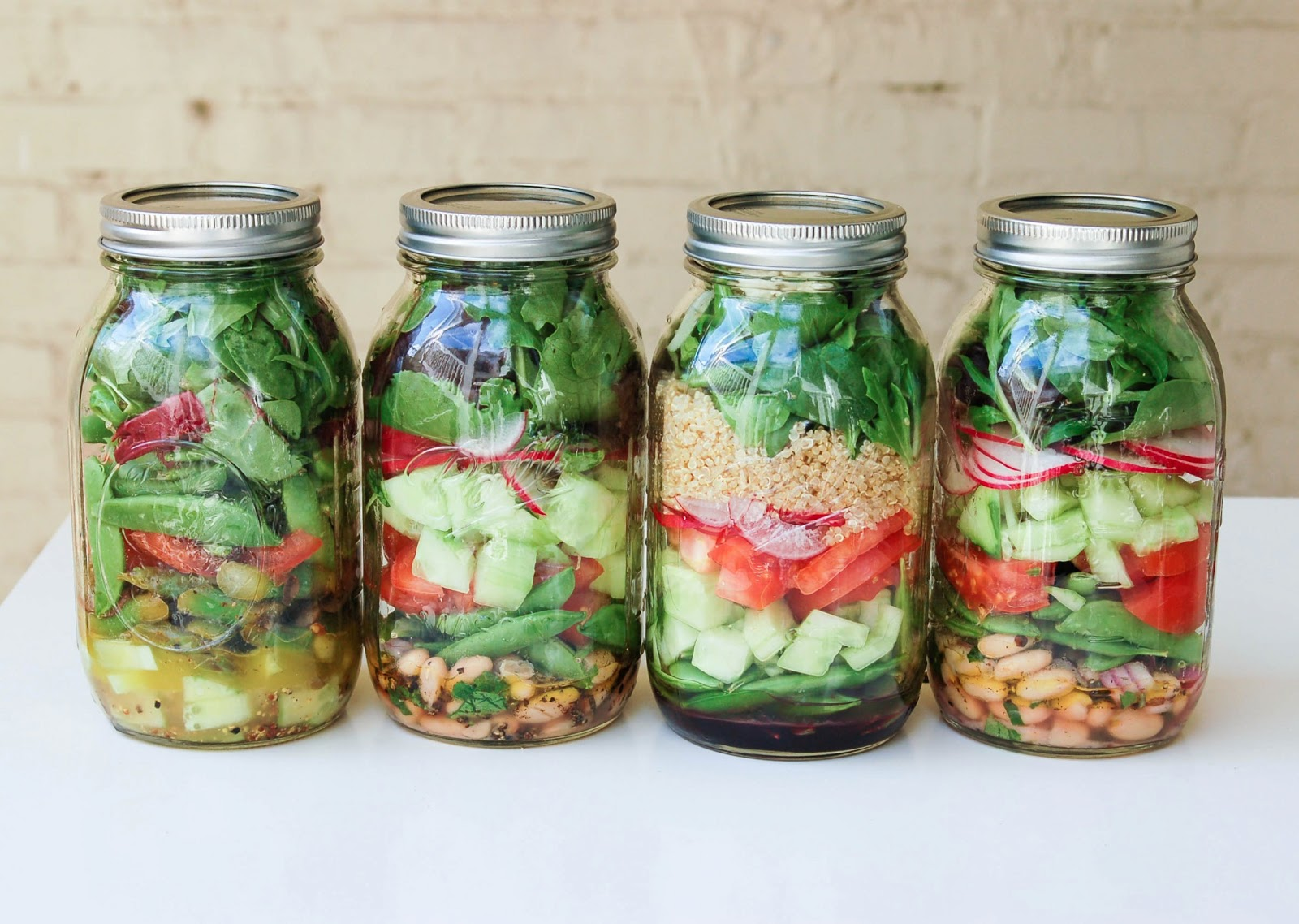 Mason Jar Salad Diagram Mason Jar Salads