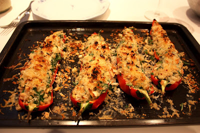Gevulde paprika met quinoa en rösti