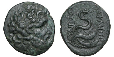 A bronze AE22 of Pergamon in Mysia, c. 133-16 BCE
