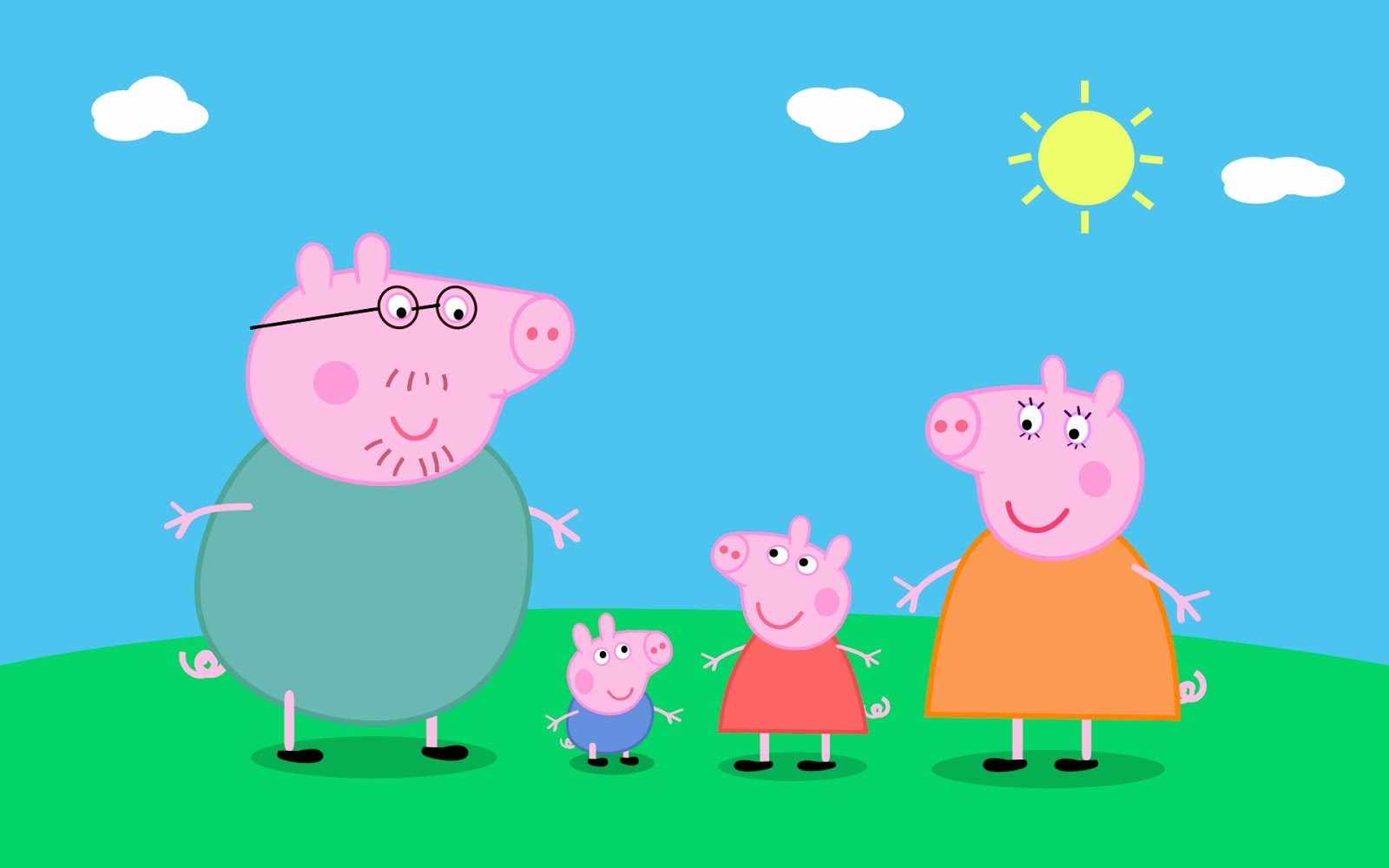 a lovely day for english peppa pig characters