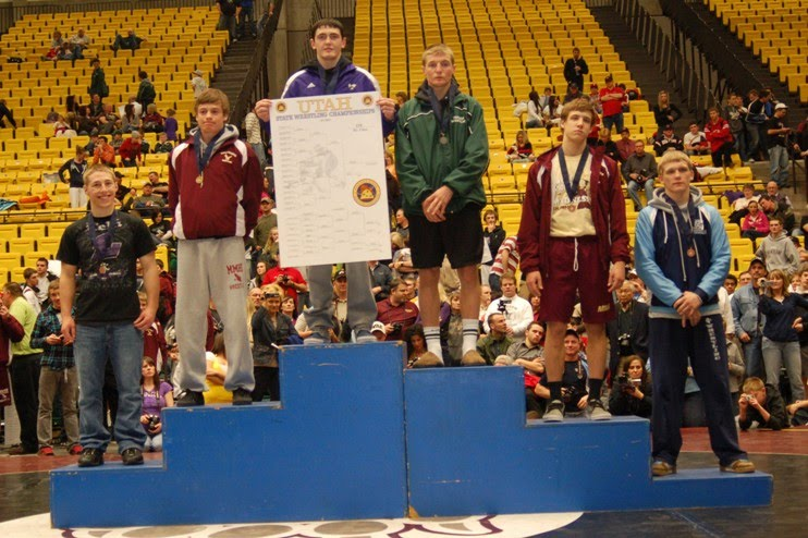 Tanner Eastmond 5th place State 135 lbs