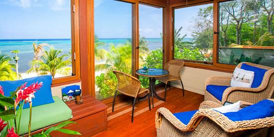 Enjoy beautiful sea views from this island getaway