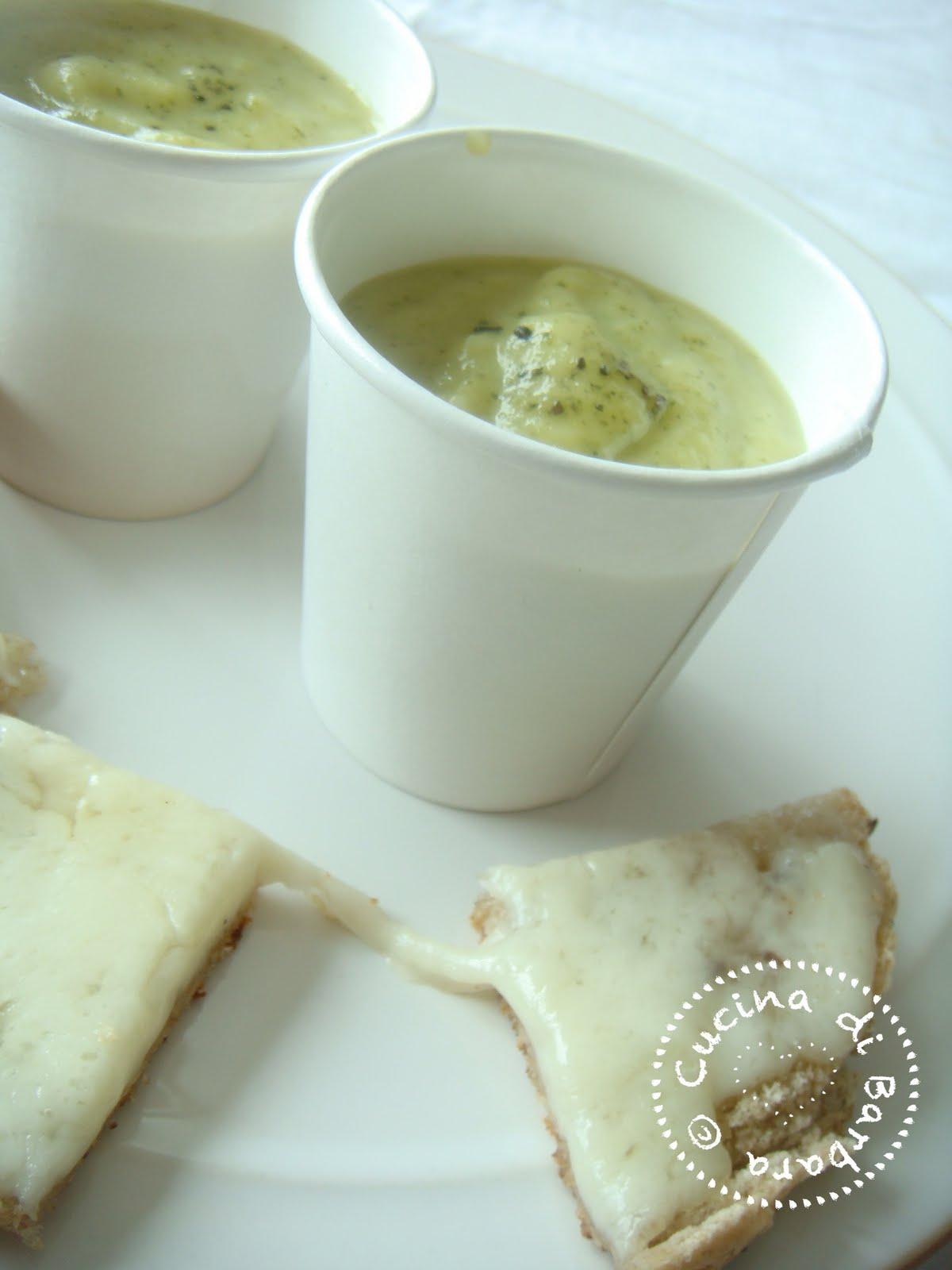 Ricetta Crema fredda di zucchine alla menta Cour te Cold soup scented with mint