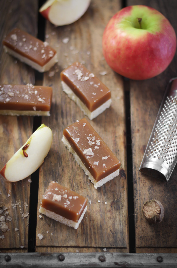 Apple Cider Caramel Bars with Smoked Maldon Salt