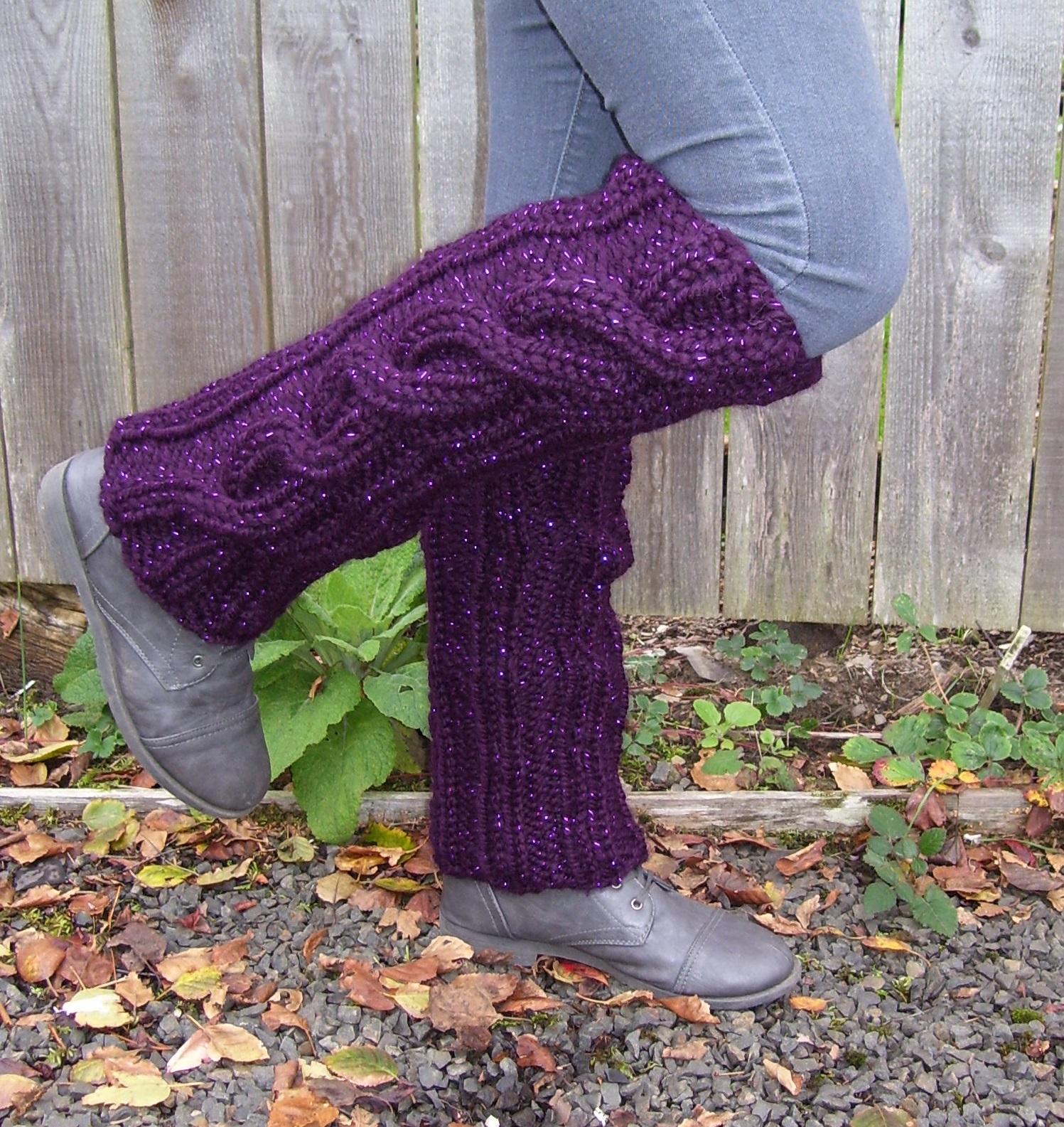 Marilynn\'sGardenKnitDesign: Quick Gift Leg Warmers