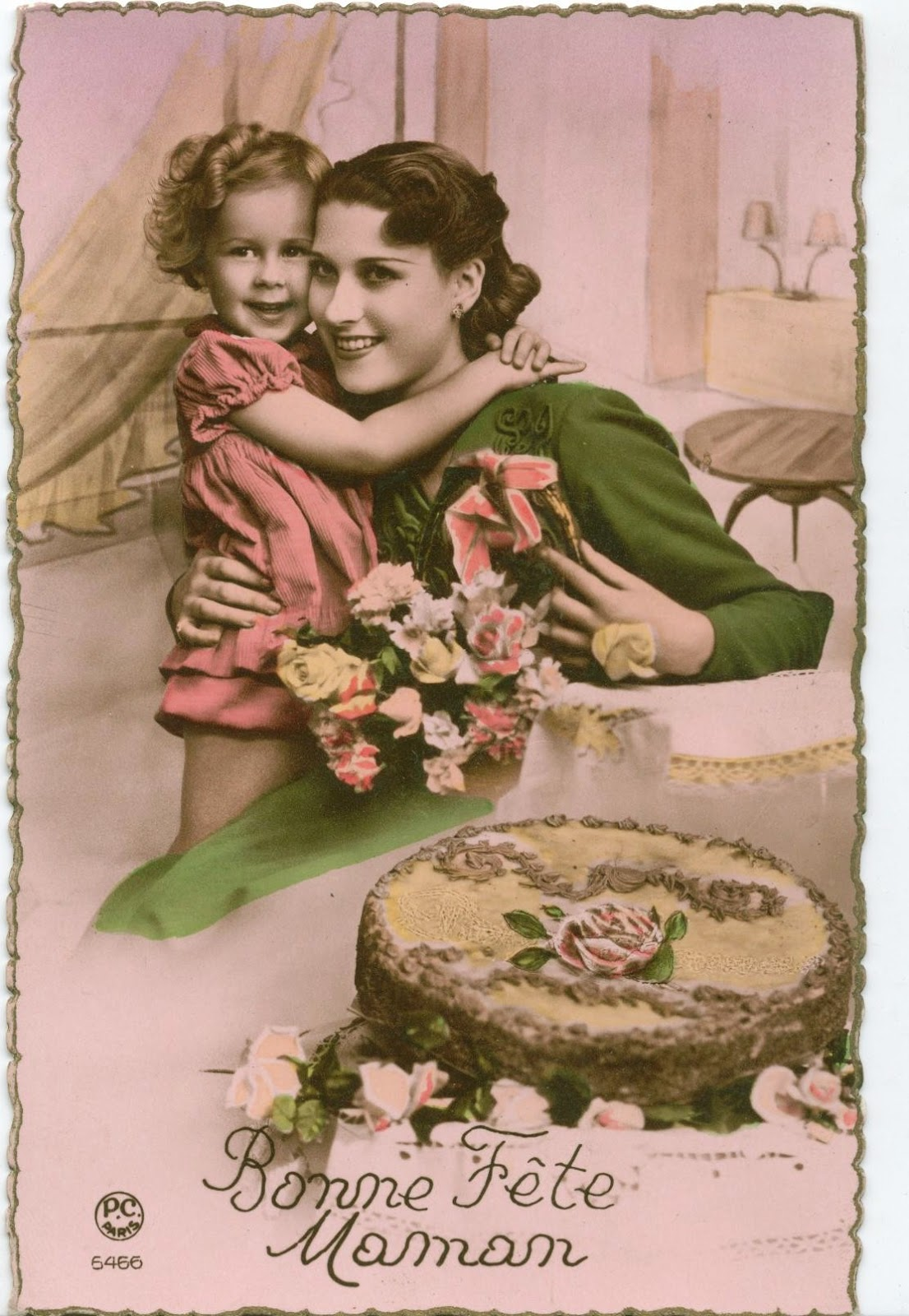 CPA fête des mères