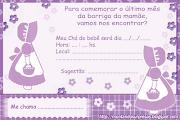 Convite Chá de bebê Gratuitomeninas lilás