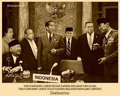 Kisah Nyata: Saat-saat Terakhir Bung Karno Setelah Terusir dari Istana Negara - Ilustrasi: Presiden Indonesia dari masa ke masa (1945 - 2015)