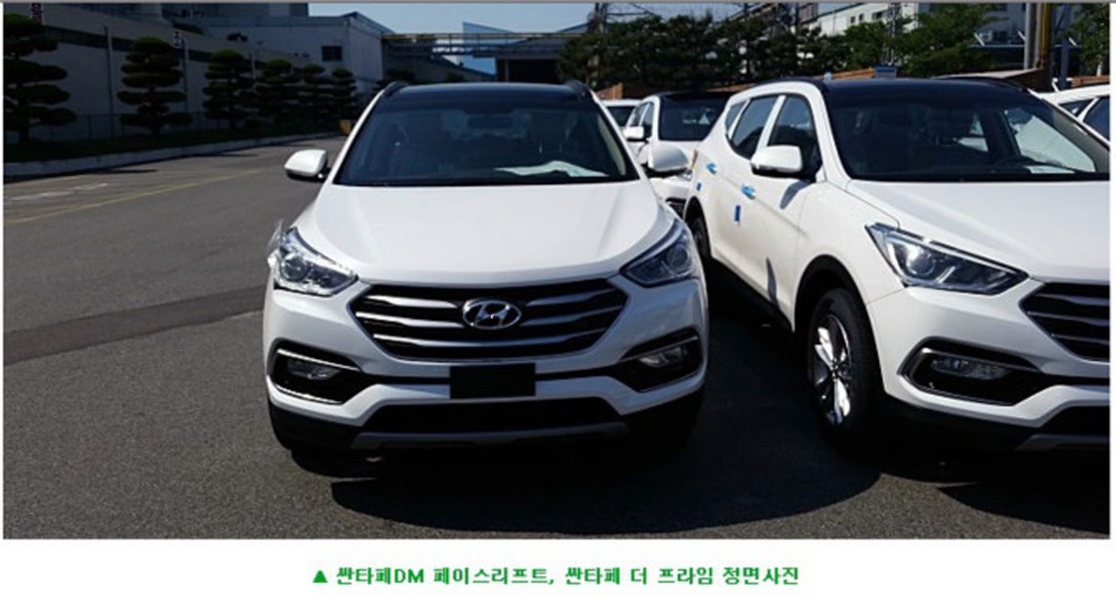 2016 hyundai santa fe facelift nabbed undisguised in korea carscoops. Black Bedroom Furniture Sets. Home Design Ideas