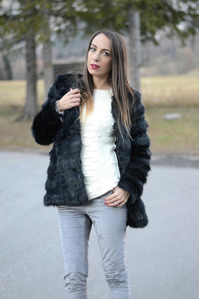 come indossare pelliccia ecologica