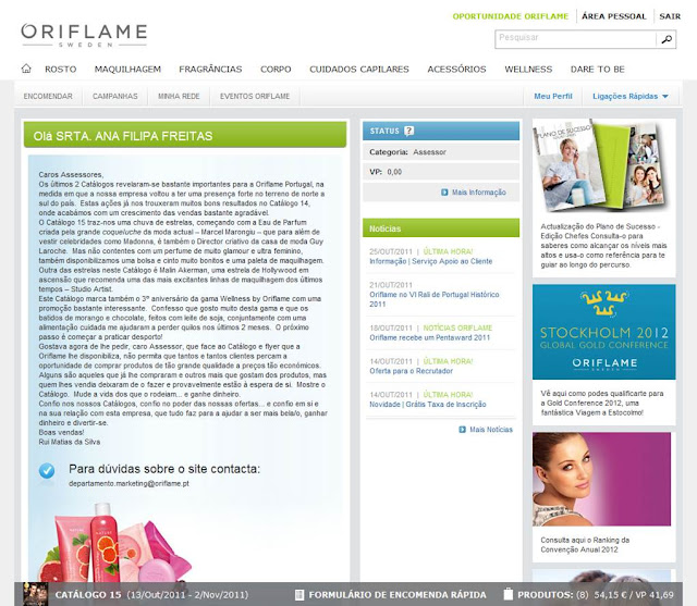 comprar cosmeticos oriflame online
