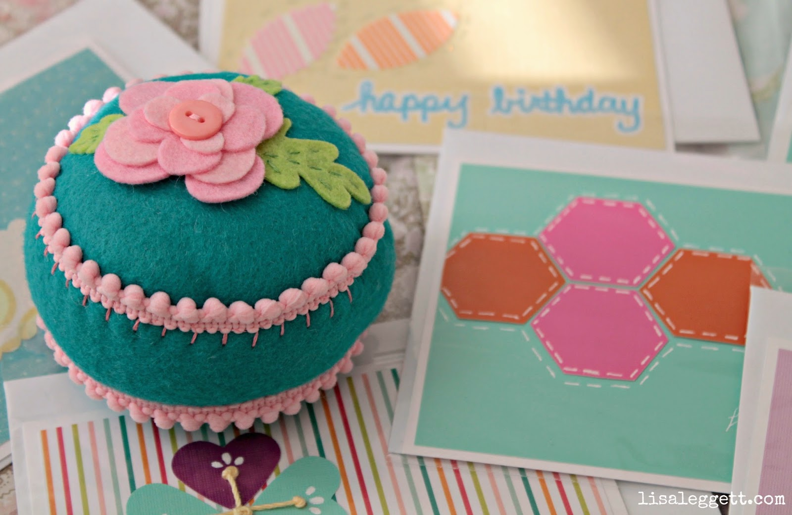 Pin Cushion & Cards by Lisa Leggett