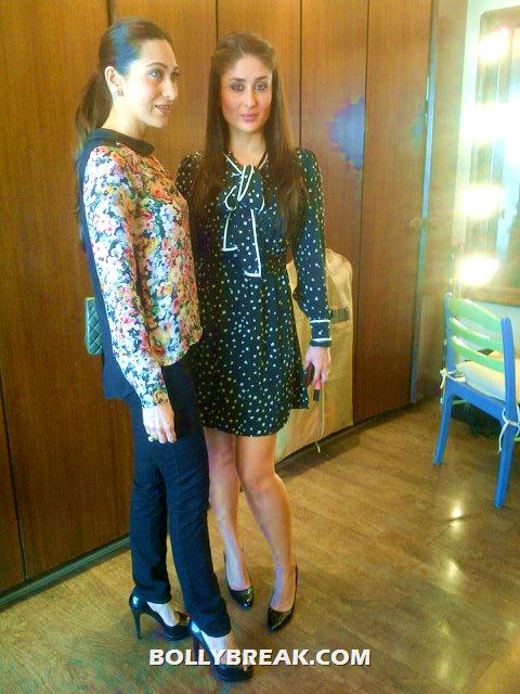 Kareena Kapoor, Karishma Kapoor looking ultra slim - Kareena Kapoor, Karishma Kapoor Real Life Pic - Latest July 2012