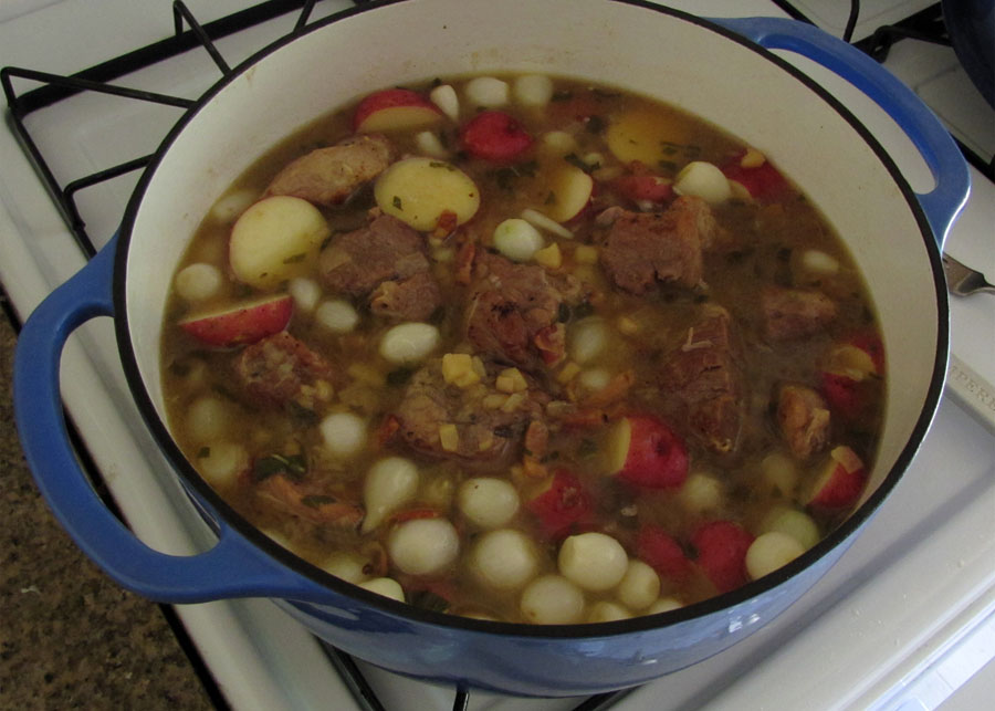 ... Food in Here: Pork Stew with Hard Cider, Pearl Onions and Potatoes